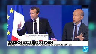 French President calls for changes to welfare system