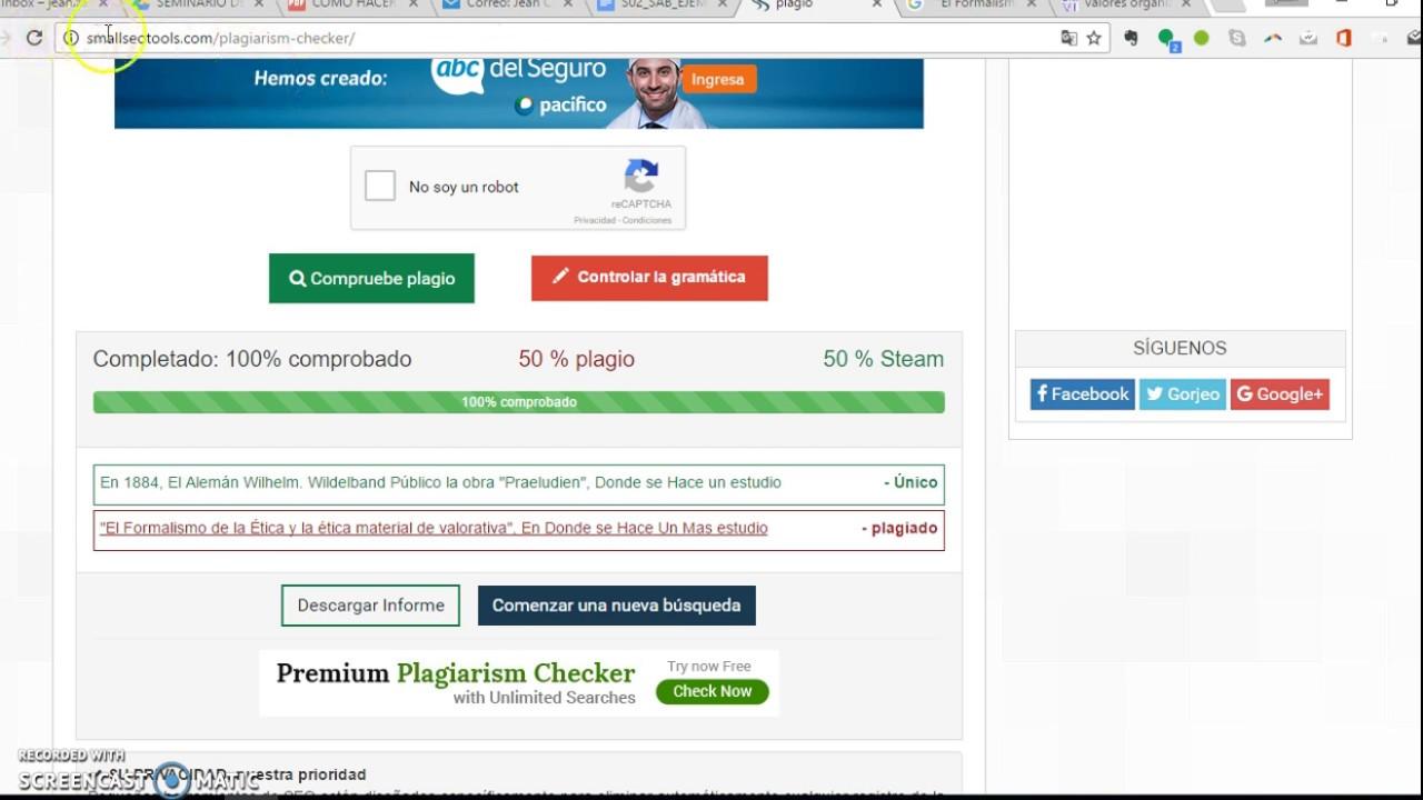 programa antiplagio gratis espaol