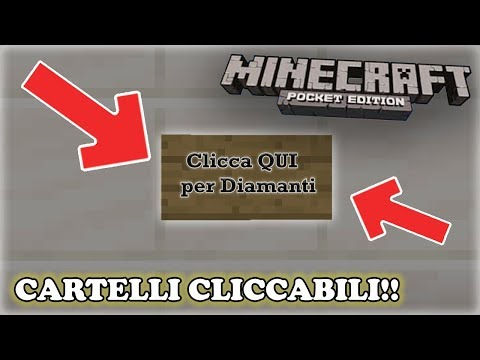 CARTELLI CLICCABILI Su Minecraft PE!! [TUTORIAL]