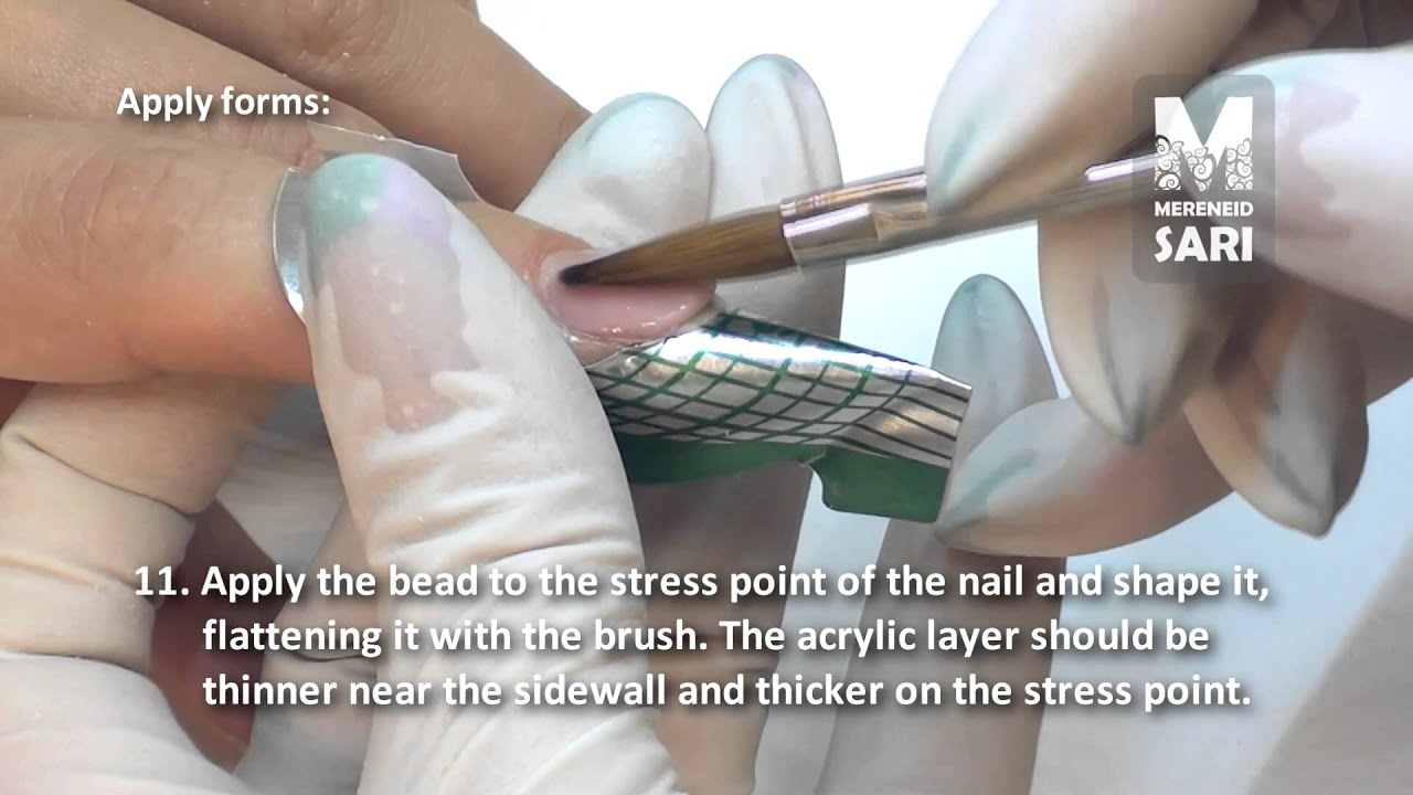 Acrylic Nails Lication Using Forms Starter Kit By Mereneid Part 2 You