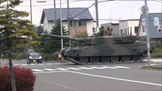 ふつ~に一般道を走っていく戦車達 Public roads running in the tank thumbnail