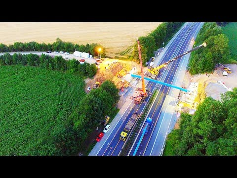 Autobahn A46 Gesperrt Wg. Bauarbeiten An Brücke