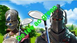 """Fortnite desafio do""""tee"""" ao """"green"""""""