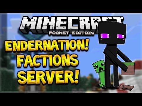 MCPE FACTIONS SERVER! Minecraft Pocket Edition 1.0.2 Endernation Custom Factions, PVP