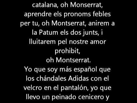 Los Chatarras - Oh Montserrat (letra)