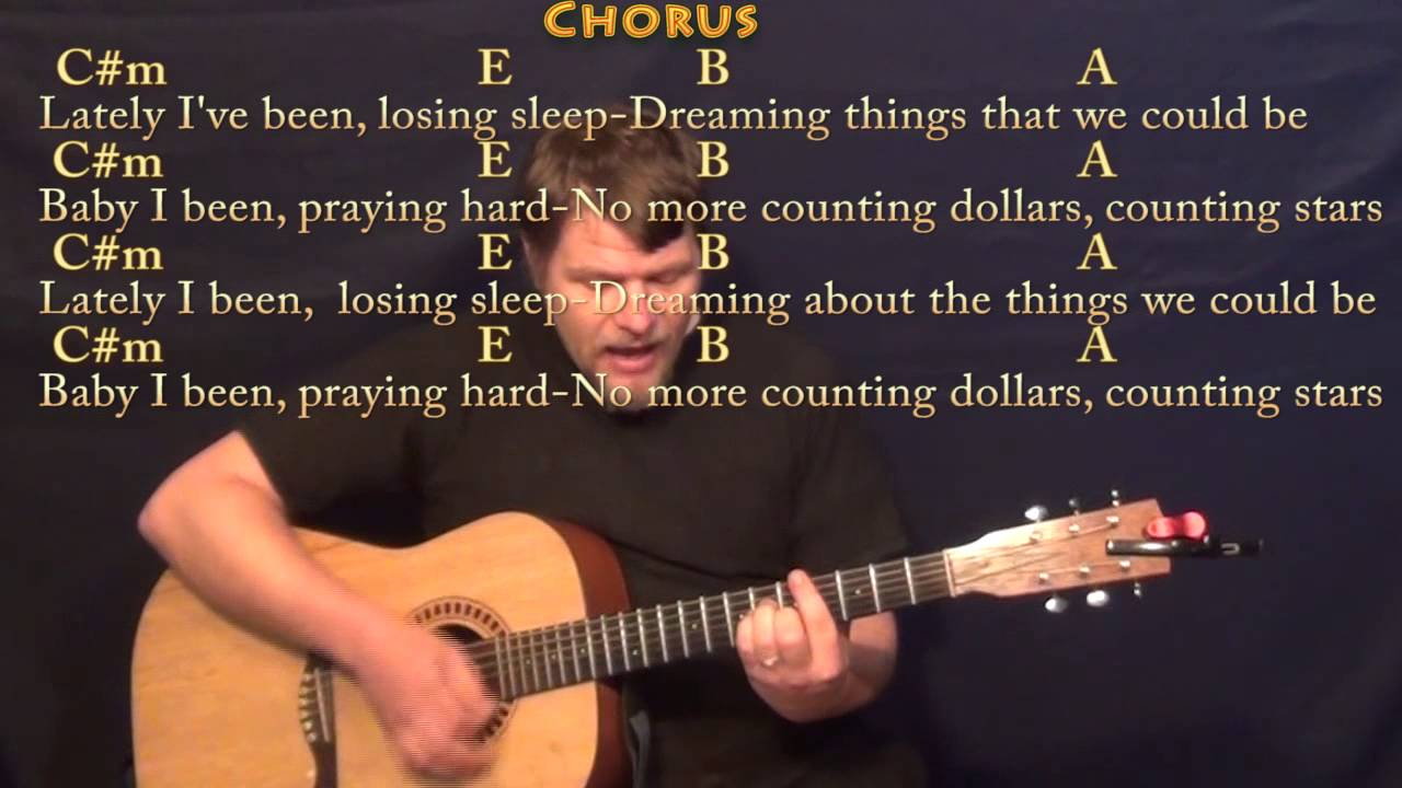 Counting Stars Onerepublic Strum Guitar Cover Lesson In Cm With