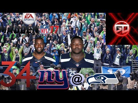 seattle seahawks madden 17 frachise! DEFENCE TURNS UP HEAT! NYG@SEA S2W9