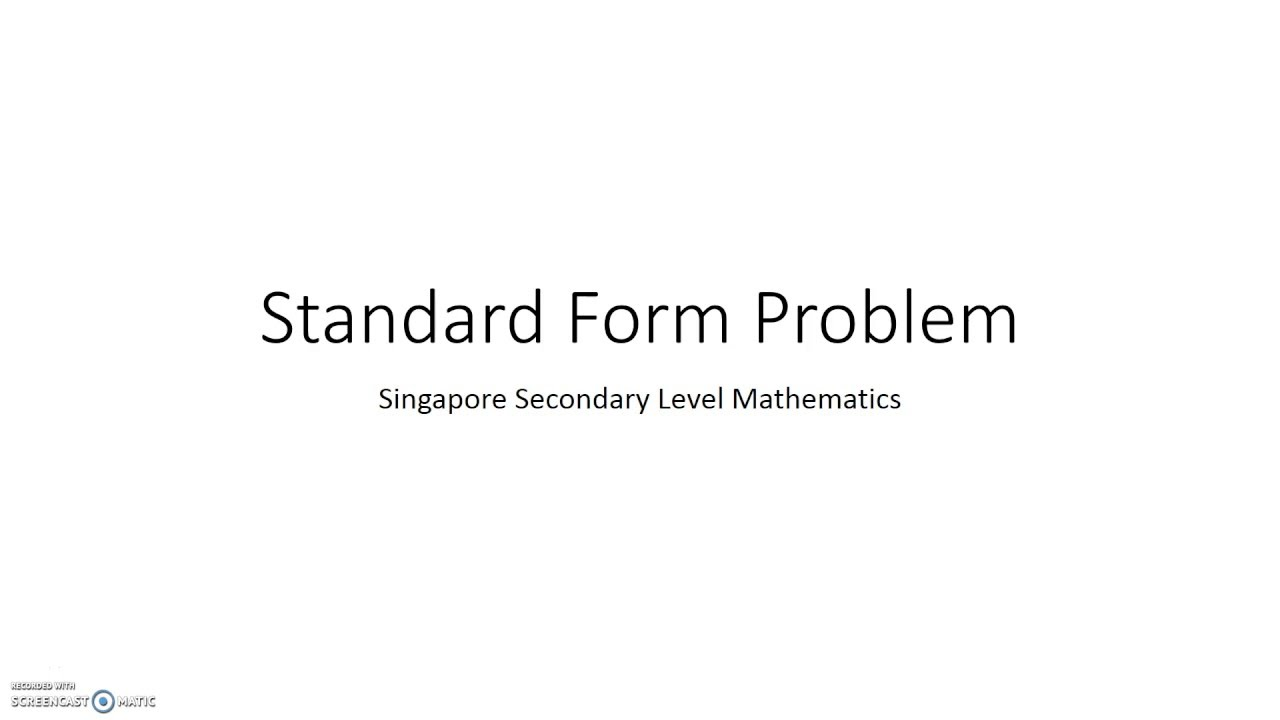 Problem standard form word problem 1 youtube problem standard form word problem 1 youtube falaconquin