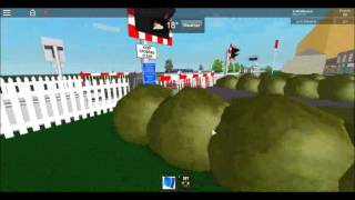 Warvale station MCB level crossing Foxton Roblox