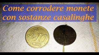 Corrodere le monete con la Candeggina e l'Acido Cloridrico!!- produzione di cloro gassoso