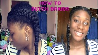 HOW TO DO DUTCH BRAIDS (with extensions)