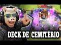 O MELHOR DECK DE CEMITÉRIO DA ATUALIDADE NO CLASH ROYALE! COM PORCAO GAMES