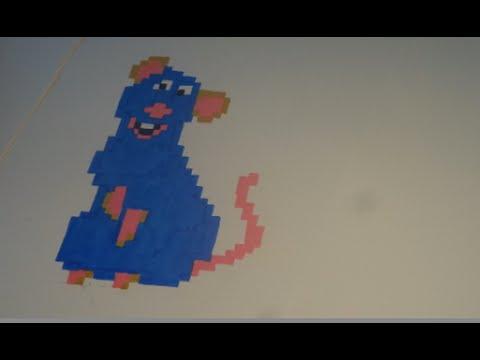 Ratatouille Dessin Pixel Art