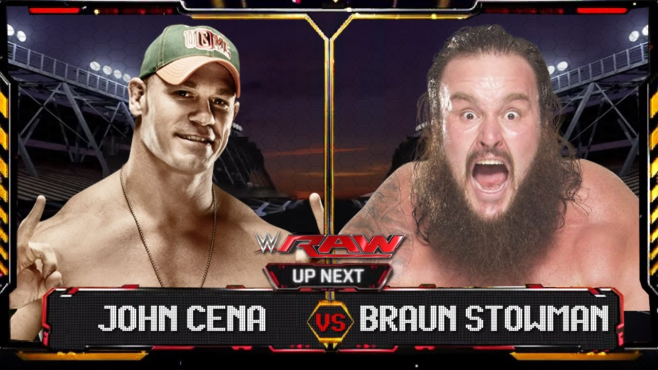 Wwe raw 2015 john cena vs braun stowman full match hd