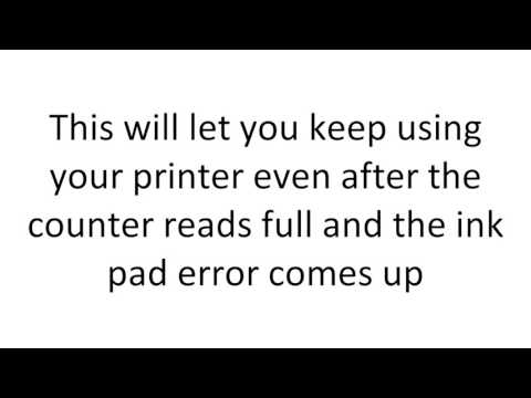 How To Reset Epson P600 Waste Ink Pad Counter