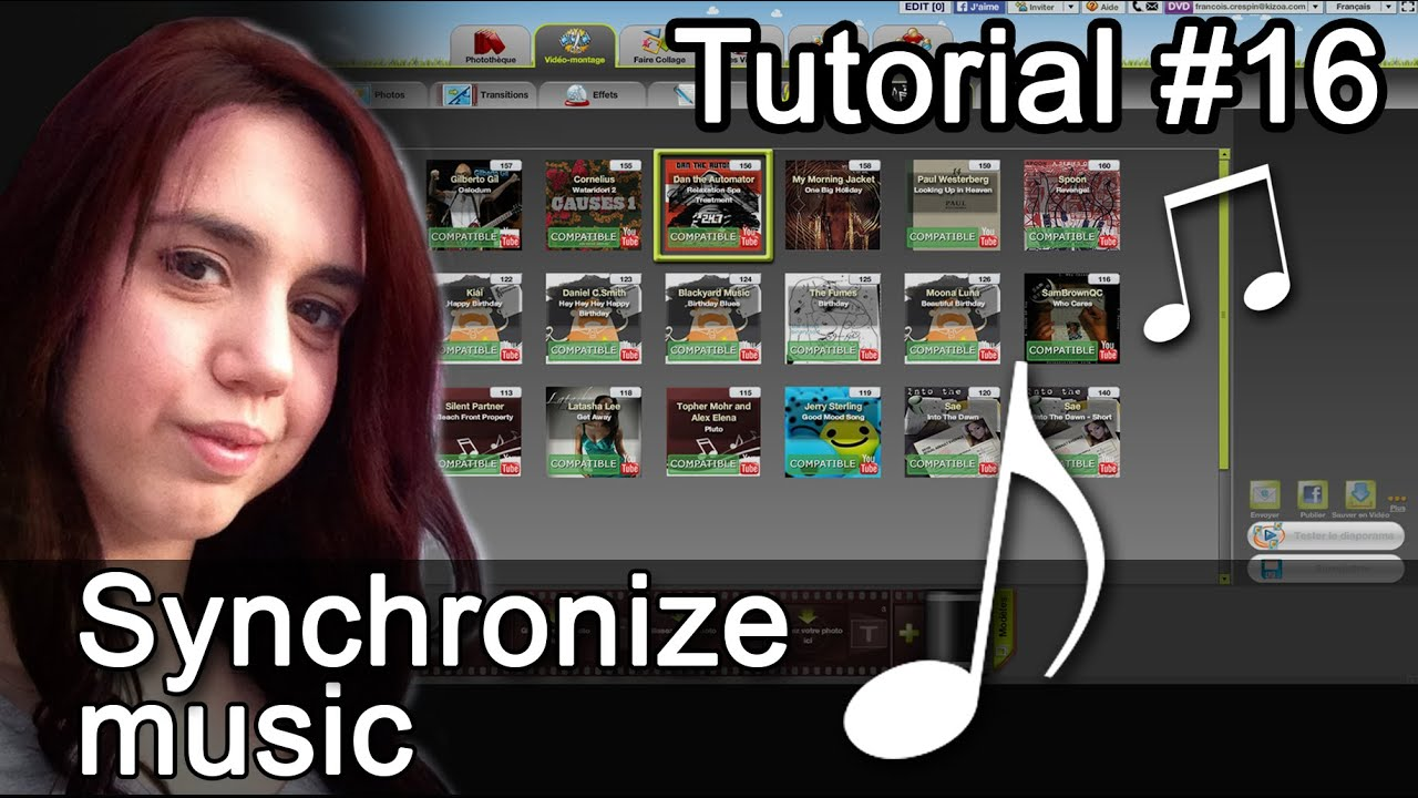 Download How to synchronize music to your photos and videos - Kizoa Tutorial