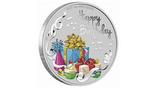 Happy birthday 1 oz silver coin from ...