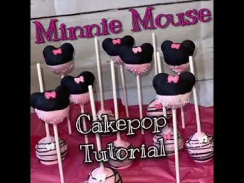 Minnie Mouse themed Cakepop TUTORIAL! 🎀
