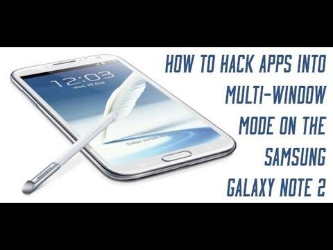 Multi Window Mod - GALAXY Note II (How To Enable)