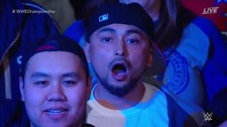 Crowd reaction when Jinder won the championship