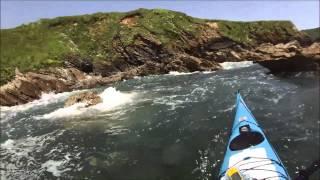 Sea Kayaking at Veryan Bay, Cornwall