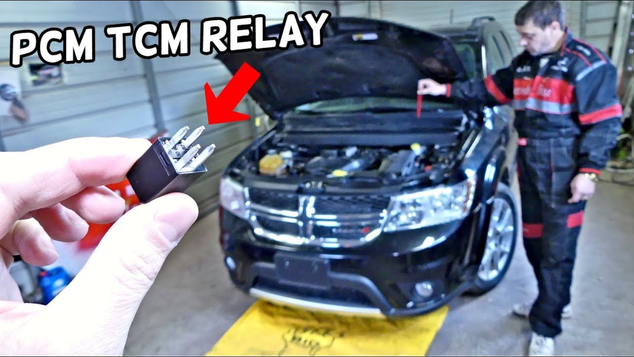 DODGE JOURNEY PCM TCM RELAY LOCATION ENGINE COMPUTER TRANSMISSION MODULE  RELAY LOCATION