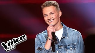 "Adam Kubera - ""As Long As You Love Me"" - Przesłuchania w ciemno - The Voice Kids 2 Poland"