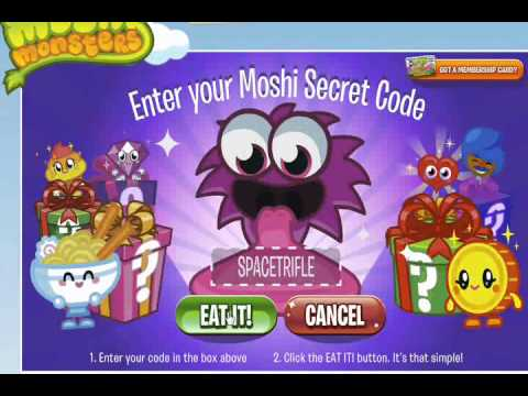 Moshi Monsters Secret Codes For 1 100 Rox 2013 New Rox