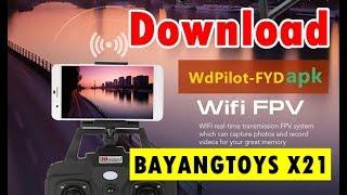 Aplikasi yang digunakan untuk menghubungkan Camera FPV Bayangtoys X21 dengan Android. Nama Aplikasinya WDPILOT-FYD yang tersedia di Playstore.