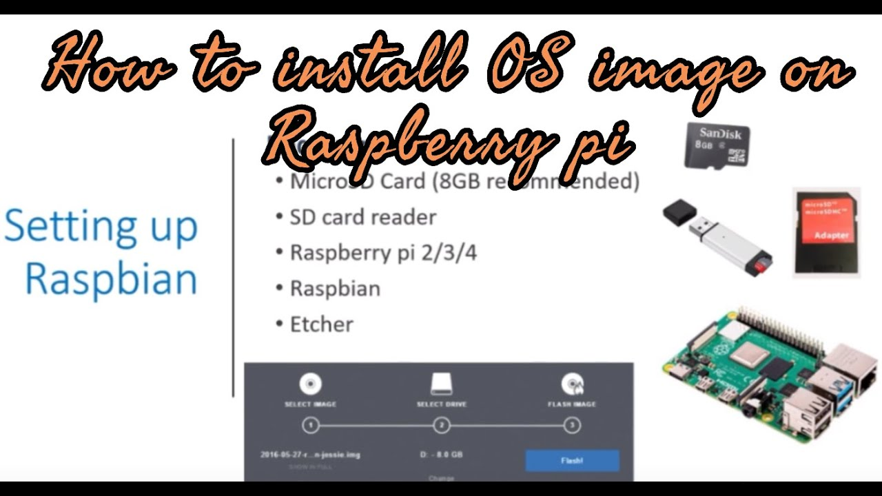 How to install Raspbian OS image on Micro-SD card for