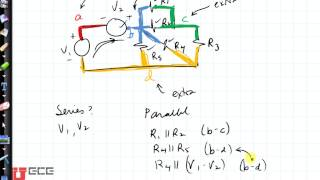 Circuits: How to tell if something is in parallel?