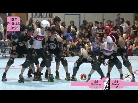 WFTDA Roller Derby: Texas Rollergirls v Gotham Girls Roller Derby - ECDX 2013