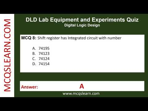 DLD Lab Equipment And Experiments Quiz - MCQsLearn Free Videos