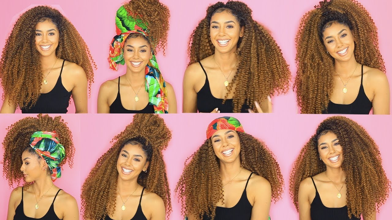 Curly Hair Crochet Hairstyles Youtube