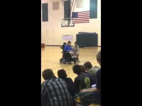 Mason Metzger speaking at North Webster Elementary School part 1