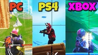 PC vs PS4 vs XBOX - DOV'E' PIU' FACILE VINCERE SU FORTNITE? [Test]