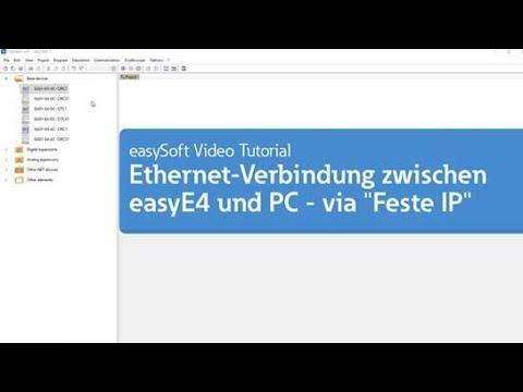 """Ethernet-Verbindung zwischen easyE4 und PC – via """"Feste IP"""" (Tutorial) thumbnail"""