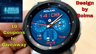 Samsung Galaxy Watch/Gear Watch Face by Rolma - 10 Coupons to Giveaway!  - Jibber Jab Reviews!