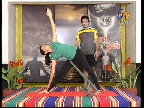601 belt exercise with tadasanatrikonasana using belt