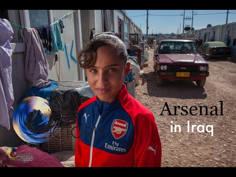 Arsenal coaches children fleeing war in Iraq - BBC News