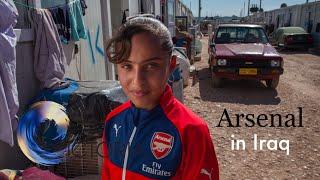 Arsenal coaches children fleeing war in Iraq - BBC News