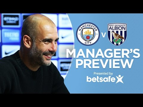 GABRIEL JESUS WANTS TO BECOME THE BEST | Man City v West Brom | Guardiola Press Conference