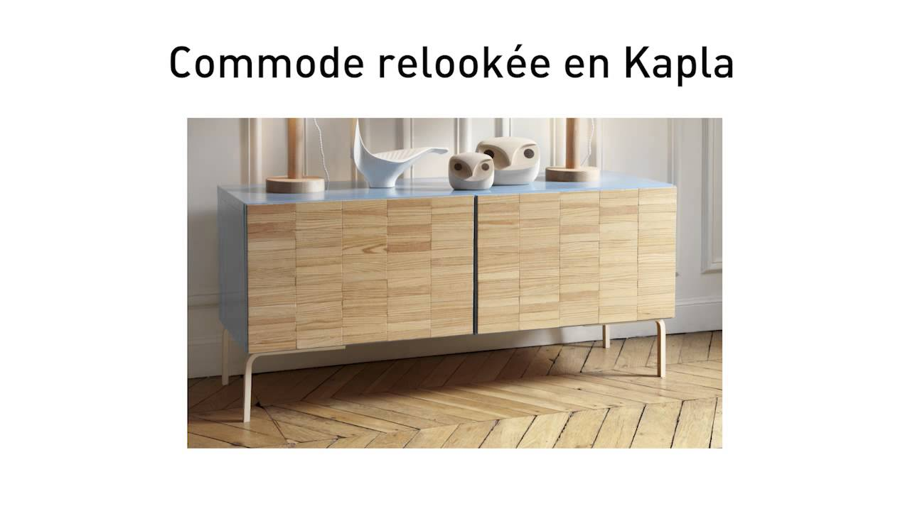 Diy Une Commode Ikea Relookee En Kapla Youtube