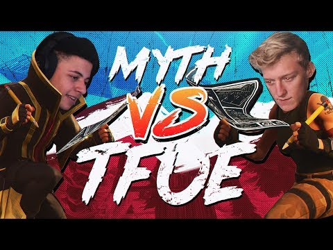 Myth vs Tfue & HighDistortion - Pro Playgrounds (1v1 BUILD BATTLES!)