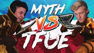 Myth vs Tfue & HighDistortion - Pro Playgrounds (1v1 BUILD BATTLES!)