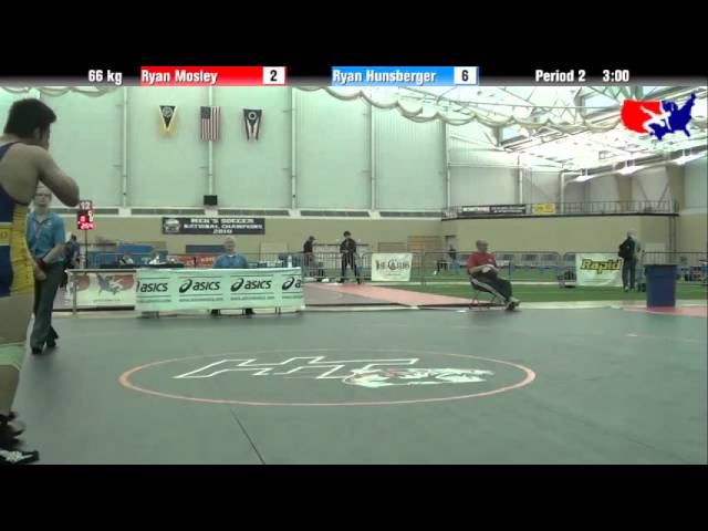 Ryan Mosley vs. Ryan Hunsberger at 2013 ASICS University Nationals - FS