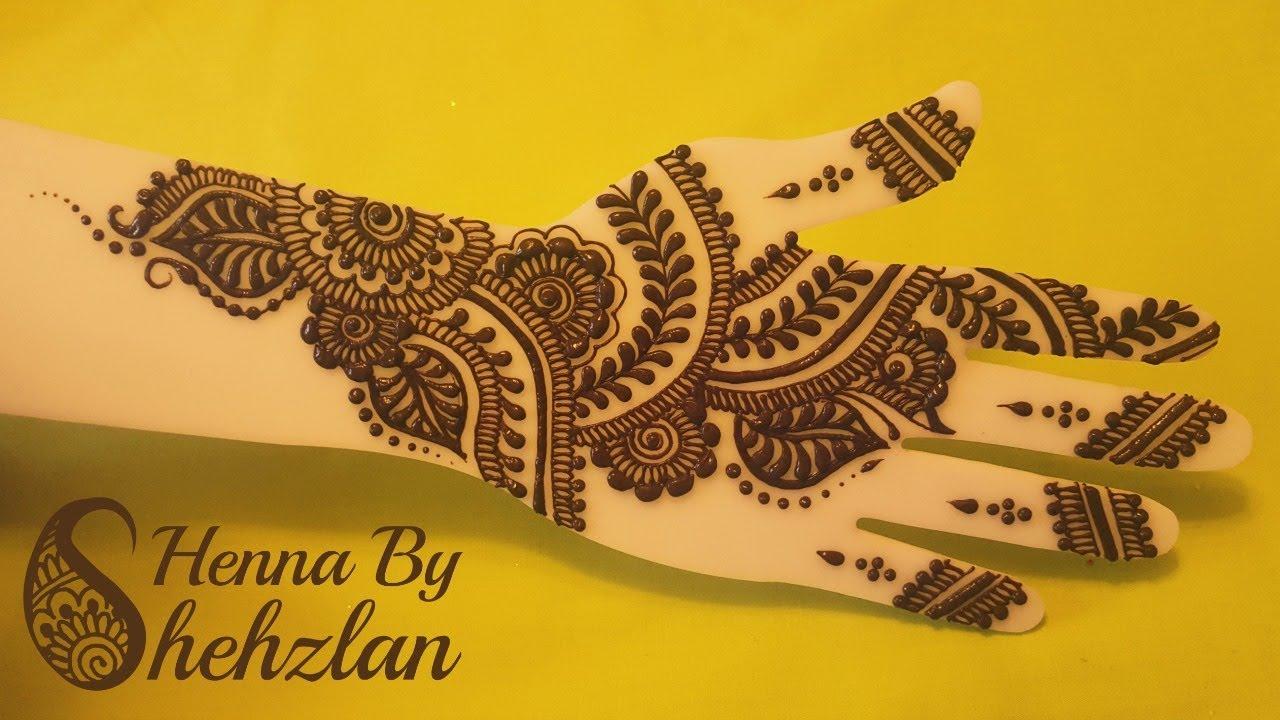 Henna By Shehzlan | How To Henna Tutorial #92 | Semi - Full - YouTube
