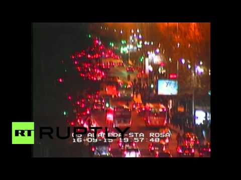 Chile: CCTV reveals moment 8.3 quake shook Santiago
