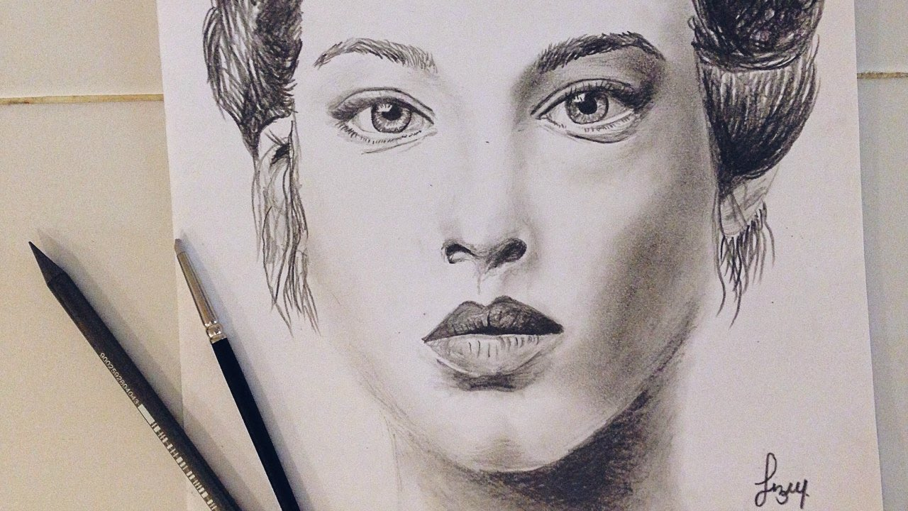 Charcoal portrait drawing. Charcoal face. | Liz Webster ...