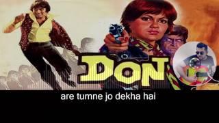 Are Diwano Mujhe pehchano karaoke with synced lyrics